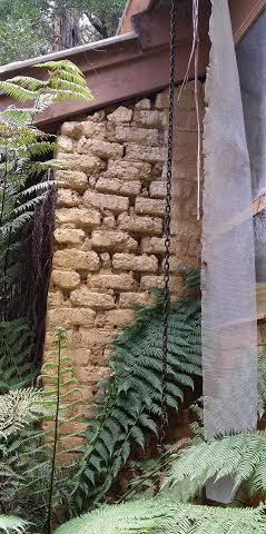Damaged mud brick
