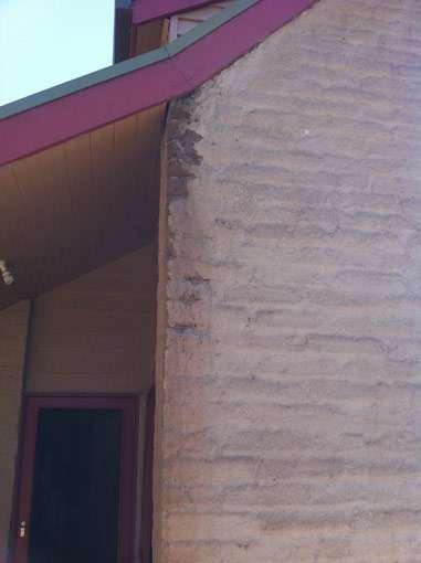 Damaged mudbrick